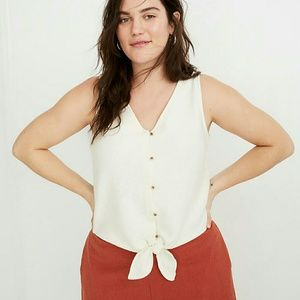 NWT Madewell button-front tie tank top